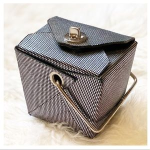 Silver 'Take Out Box' Evening Bag